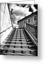 Lines On The Stairs Greeting Card
