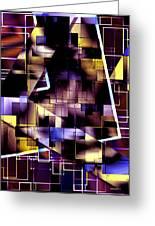 Lines Vs Diagonals Greeting Card by Mario Perez