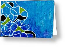 Linework Blue Greeting Card