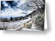 Linn Cove Viaduct Winter Scenery Greeting Card