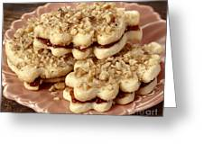 Linzer Cookies Greeting Card