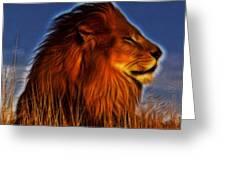 Lion - King Of Animals Greeting Card
