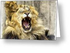 Lion 15 Greeting Card