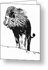 Lion 5x7 Card Greeting Card