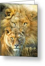Lion And Lioness- African Royalty Greeting Card