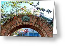 Lion Arch With Flowers Greeting Card