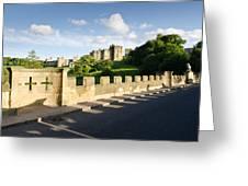 Lion Bridge At Alnwick Castle Greeting Card
