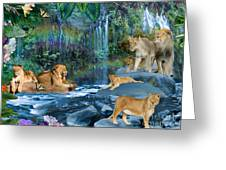 Lion Falls Greeting Card