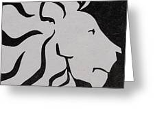 Lion Graphic King Of Beasts Greeting Card by M C Sturman