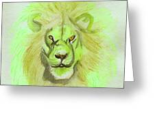 Lion Green Greeting Card