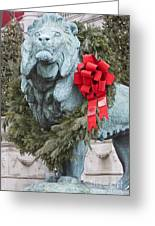 Lion In Winter Greeting Card