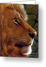 Lion King Greeting Card by Jurek Zamoyski