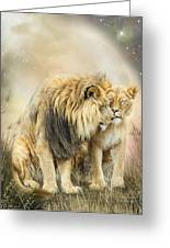 Lion Kiss Greeting Card