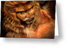 Lion Man Greeting Card
