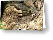 Lion On The Tree Of  Life Greeting Card