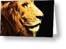 Lion Paint 2 Greeting Card