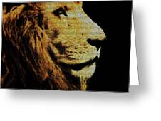 Lion Paint Greeting Card