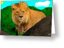 Lion Prowling Greeting Card