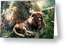 Lion Spirit Greeting Card