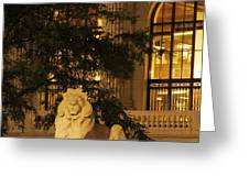 Lion Statue In New York City Greeting Card