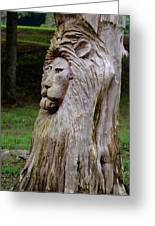 Lion Tree Greeting Card