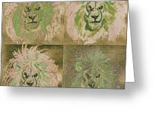 Lion X 4 One Greeting Card