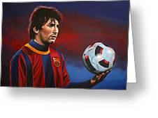 Lionel Messi 2 Greeting Card by Paul Meijering