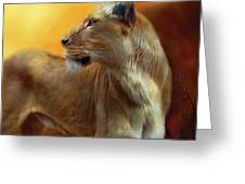 Lioness Is Near Greeting Card