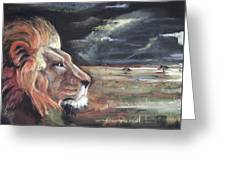 Lions Domain Greeting Card