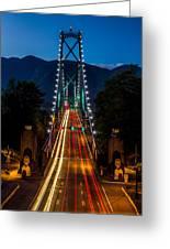 Lion's Gate Bridge Vancouver B.c Canada Greeting Card