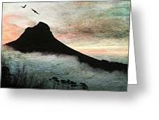 Lion's Head Cape Town Greeting Card