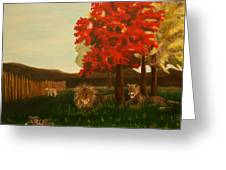 Lions In Wisconsin Greeting Card