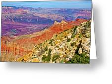 Lipan Point View On East Side Of South Rim Of Grand Canyon-arizona   Greeting Card