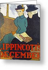 Lippincotts Decembe  1896 Greeting Card