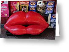 Lips Couch Greeting Card