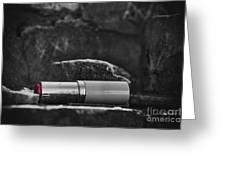 Lipstick - Bw  Greeting Card