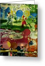 Liquid Marbles Two Greeting Card