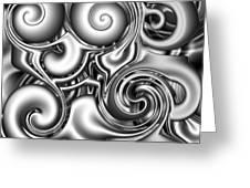 Liquid Metal Greeting Card