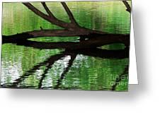 Liquid Reflection Greeting Card