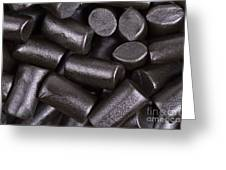 Liquorice Background Greeting Card by Jane Rix