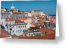 Lisbon Alfama District Greeting Card