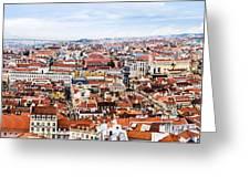 Lisbon Panoramic Skyline Greeting Card