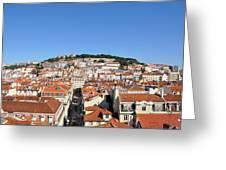 Lisbon Skyline Greeting Card