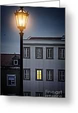 Lisbon Street Lamp Greeting Card