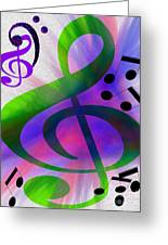 Listen To The Music Greeting Card