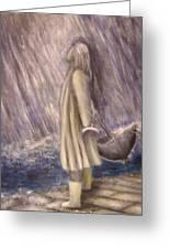 Listen To The Rhythm Of The Falling Rain.. Greeting Card