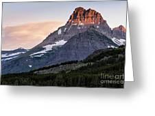 Lit Peaks Greeting Card