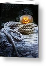 Lit Pumpkin Greeting Card