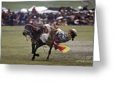 Litang Horse Festival - Kham Tibet Greeting Card by Craig Lovell
