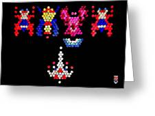Lite Brite - Galaga Greeting Card